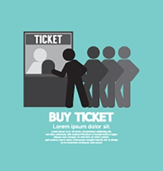 People Buy Ticket At Service Booth vector image