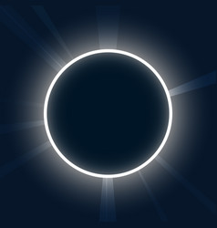 Abstract background neon round eclipse with rays vector