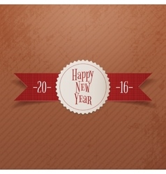 Christmas or New Year Label and red Ribbon vector image vector image