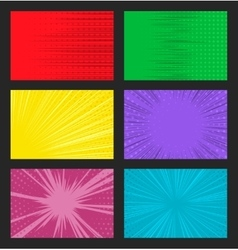 comic background with dots and speed lines vector image vector image