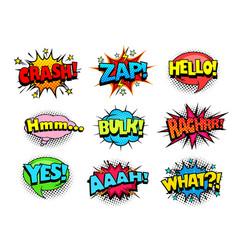 Comic book sound effect speech bubbles vector