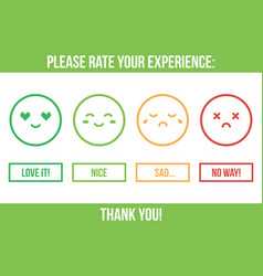 customer service rating vector image