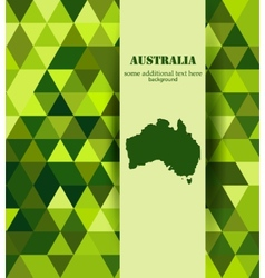 Grenn Australis mosaic background vector image