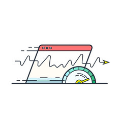 internet speed vector image