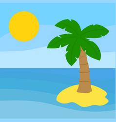 palm tree island vector image