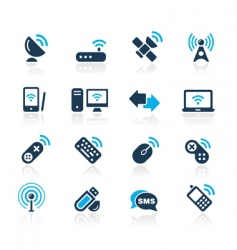 wireless and communications vector image vector image