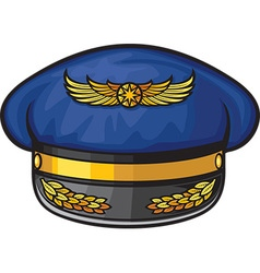 Airline Pilots Hat vector image vector image