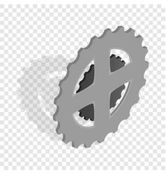 bike chain star isometric icon vector image
