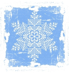 Blue Grunge Snowflake vector image