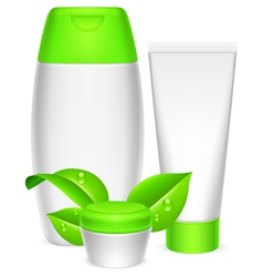 Cosmetics containers vector image