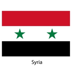 Flag of the country syria vector image vector image