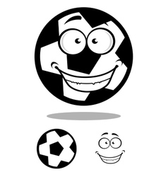 Happy football or soccer ball with a goofy smile vector image