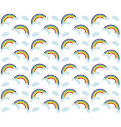 rainbow seamless pattern colorful children s vector image