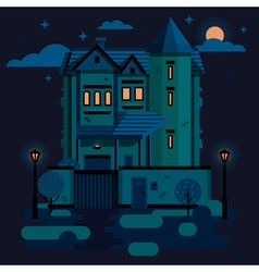 TownHouse Night vector image vector image