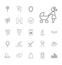 22 decoration icons vector