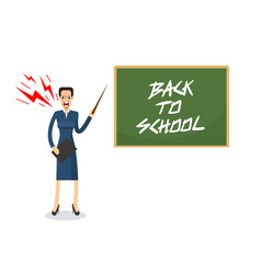 Angry teacher with anger and scream standing vector