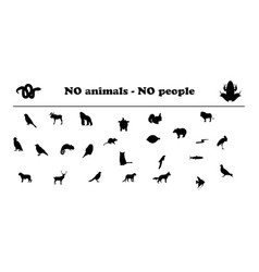 Animals silhouettes no no people vector