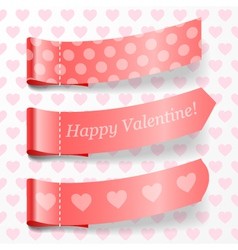 Attach valentine ribbons vector