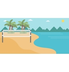 Background beach volleyball court at seashore vector