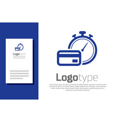 Blue fast payments icon isolated on white vector