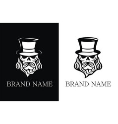 Brand name skull with hat vector