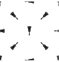 brush pattern seamless black vector image