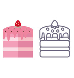 Cakes on white background vector