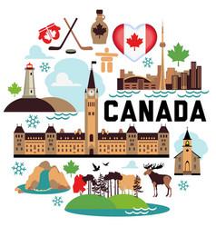 Canada pattern vector image