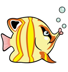 cartoon aquarium fish vector image