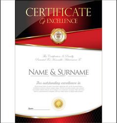 Certificate or diploma retro vintage design 083125 vector