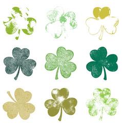 clover leaf grunge set vector image