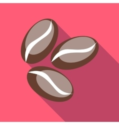 Coffee beans icon flat style vector