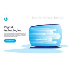 digital information technologies networking data vector image