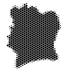 Dot halftone cote d ivoire map vector
