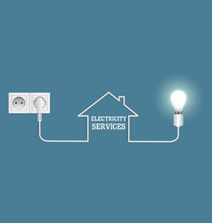 electricity services poster banner design vector image