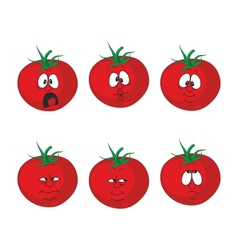 Emotion cartoon red tomato vegetables set 007 vector image