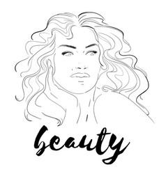 Fashion makeup cosmetics hand vector