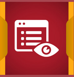 File hide icon vector