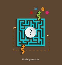 Finding solutions flat design concept template vector image