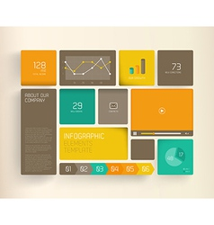 Flat design template with icons and symbols on vector