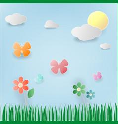 floral summer paper art vector image