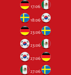 Football championship flags group f vector