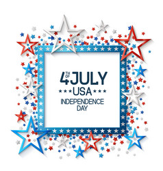 Fourth july background with frame vector
