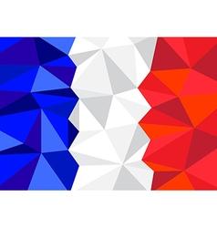 France Flag Polygon vector
