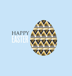 gold and black concept easter egg decoration of vector image