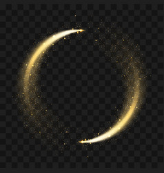 gold sparkling glitter circle circle of golden vector image