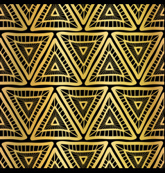 Golden triangle seamless pattern boho vector