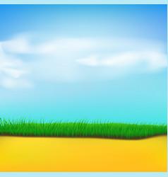 Grass sand sky vector