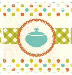 Grunge food background vector image