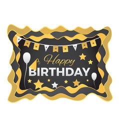 happy birthday abstract with paper vector image